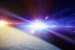 Explosão estelar catastrófica da supernova fotos de stock