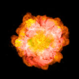 Explosão extremamente maciça do fogo no fundo preto fotografia de stock royalty free