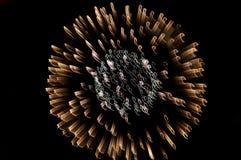 Explosão - fogos-de-artifício foto de stock