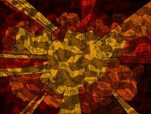 Explosão metálica ilustração do vetor