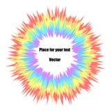 Explosão multicolorido da cor do sumário do arco-íris em um fundo claro isolado Fogos-de-artifício do feriado do ` s das crianças ilustração stock