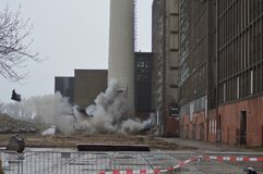 Explosão no central energética o ijsselcentrale fotos de stock royalty free