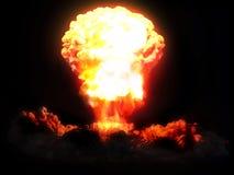 Explosão nuclear Foto de Stock