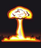 Explosão nuclear Imagem de Stock Royalty Free