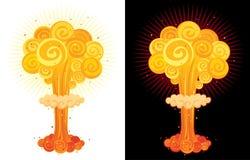 Explosão nuclear Fotografia de Stock Royalty Free