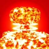 Explosão nuclear Imagens de Stock