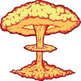 Explosão nuclear ilustração do vetor