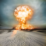 Explosão nuclear moderna Imagem de Stock