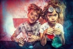 Explosão química grande Fotografia de Stock Royalty Free