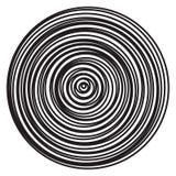 Explosão radial dos anéis do vetor de círculos abstratos ilustração do vetor