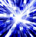 Explosão torcida azul telhada Imagem de Stock Royalty Free