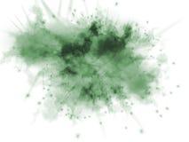 Explosão verde com sparkles Fotografia de Stock Royalty Free