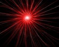 Explosão vermelha Fotos de Stock