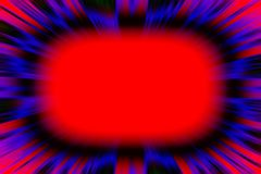 Explosão vermelha colorida do starburst Fotos de Stock