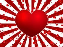 Explosão vermelha do coração Fotografia de Stock Royalty Free