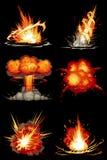 Explosões 01 Imagens de Stock Royalty Free