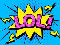 Explosões da ilustração dos desenhos animados de LOL Comic Vetora Símbolo da banda desenhada ilustração royalty free