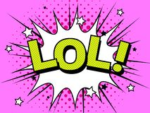 Explosões da ilustração dos desenhos animados de LOL Comic Vetora Símbolo da banda desenhada ilustração stock