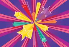 Explosões das estrelas Imagem de Stock