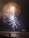 Explosões de florescência na sincronização Foto de Stock