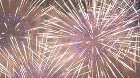 Explosões dos fogos de artifício julho de quarto no verão filme