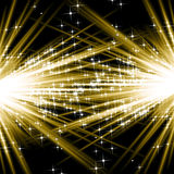 Explosões douradas Imagens de Stock Royalty Free