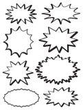 Explosões sortidos da estrela Foto de Stock Royalty Free