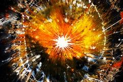 Explosión abstracta Foto de archivo libre de regalías