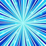 Explosión abstracta Ray Background Blue de la estrella Fotografía de archivo