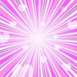 Explosión abstracta Ray Background Pink del corazón del amor Fotos de archivo libres de regalías