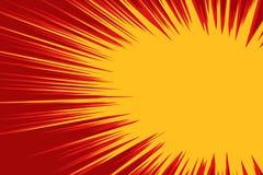 Explosión amarilla roja cómica ilustración del vector