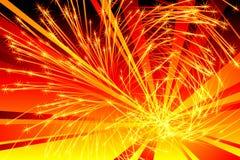 Explosión ardiente Imágenes de archivo libres de regalías