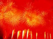 Explosión asombrosa de los fuegos artificiales Foto de archivo libre de regalías