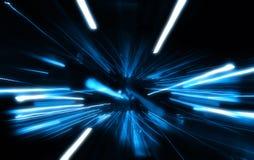 Explosión azul ilustración del vector