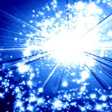 Explosión azul Imagen de archivo