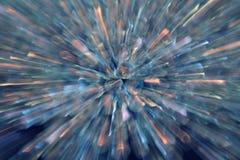 Explosión azul Imágenes de archivo libres de regalías