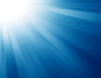 Explosión azul de la luz Foto de archivo