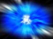 Explosión azul grande Fotografía de archivo