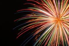 Explosión brillante del fuego artificial Imágenes de archivo libres de regalías