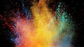 Explosión coloreada del polvo libre illustration