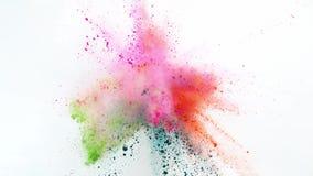 Explosión coloreada del polvo stock de ilustración