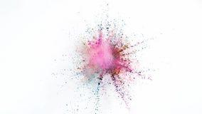 Explosión coloreada del polvo ilustración del vector