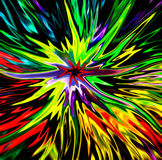 Explosión colorida de la estrella Foto de archivo