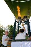 Explosión de Articipants sus globos Imagen de archivo libre de regalías