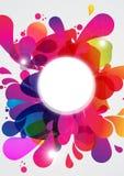 Explosión de color abstracta Foto de archivo libre de regalías
