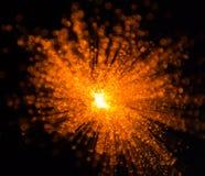 Explosión de color anaranjada de la luz Fotos de archivo libres de regalías
