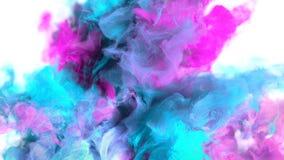Explosión de color - mate alfa del humo de las partículas flúidas ciánicas magentas coloridas de la explosión ilustración del vector