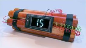 Explosión de la bomba de la dinamita ilustración del vector