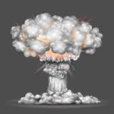Explosión de la bomba nuclear Foto de archivo libre de regalías