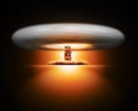 Explosión de la bomba nuclear en fondo libre illustration